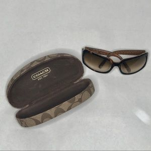Coach sunglasses and case tortoise shell